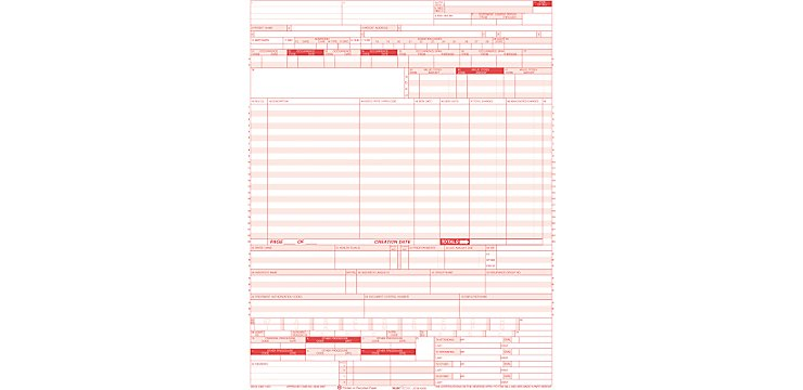 Ub04Lc Hospital Claim Form Laser Cut Sheet